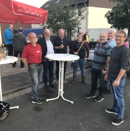 Wahlkampfstand in Königsförde