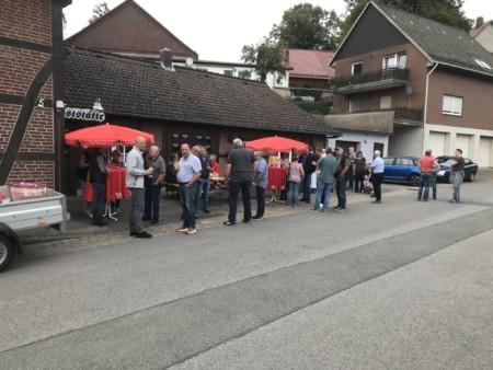 Wahlkampfstand in Reinerbeck