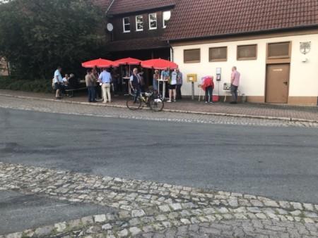 Wahlkampfstand in Gellersen